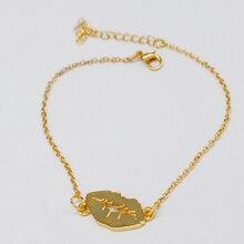 Wholesale 2018 Hot Gold Lips Kiss Bracelet Sexy Lips Pendant Charm Love Bracelet Valentines Day Gift Sexy Bracelet Lips jewelry