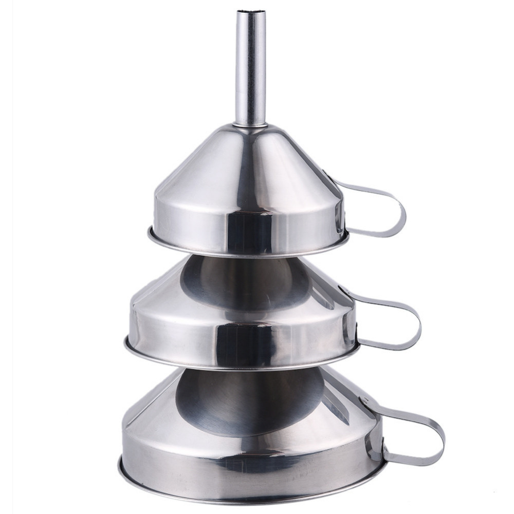 3Pcs Kitchen Funnels Non magnetic Thickening Stainless Steel Funnel ...