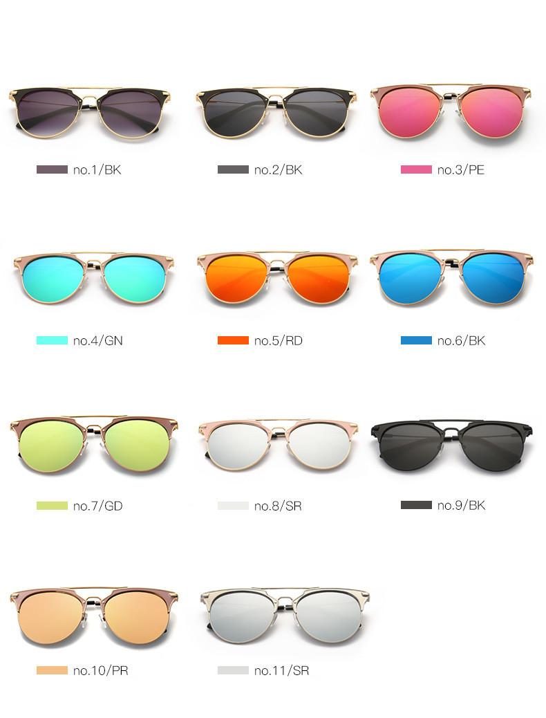 HTB1Gwj9oiAKL1JjSZFoq6ygCFXa6 - Luxury Vintage Round Sunglasses Women Brand Designer 2018 Cat Eye Sunglasses Sun Glasses For Women Female Ladies Sunglass Mirror