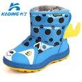 Botas de bebé de Dibujos Animados Dots Niños Cargadores Del Bebé de Invierno Niñas Infantiles Zapatos de Algodón Botas de Nieve Niño Niño