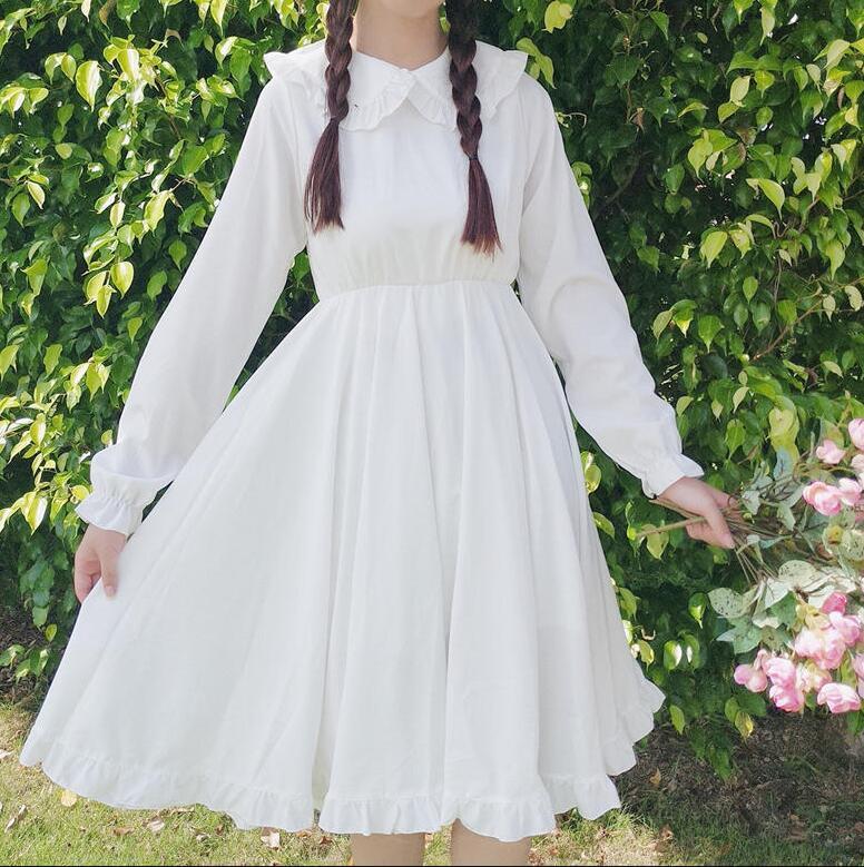 Vintage sweet lolita dress princess peter pan collar victorian dress vestido lolita tea party gothic lolita op kawaii girl loli