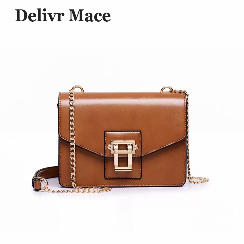 2018 Newest Brown Vintage Leather Women Messenger Bag Handbags Small Flap Ladies Shoulder Bag High Quality Female Crossbody Bags knitting designer genuine leather ladies small woven flap purse messenger bag vintage female women s single shoulder sling bag