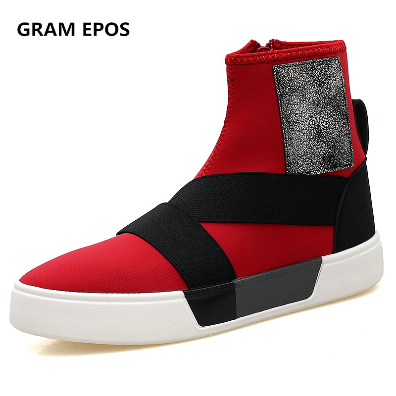 GRAM EPOS Mens Casual Shoes Man Flats Breathable Fashion  High Top Shoes Men Autumn Winter Botas Shoes For Male Zapato