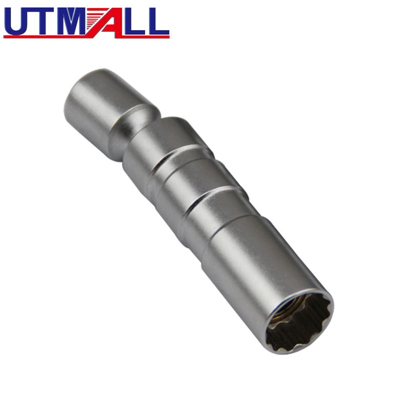 14 Or 16mm Magnetic Thin Wall Universal Joint Spark Plug Socket Removal Tool 12pt 95mm Length
