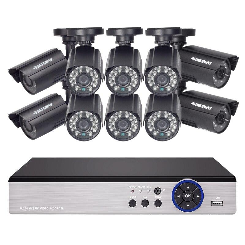 DEFEWAY HD 1080N P2P 16 Channel CCTV System Video Surveillance DVR KIT 10PCS Outdoor IR Night Vision 1.0 MP CCTV SystemDEFEWAY HD 1080N P2P 16 Channel CCTV System Video Surveillance DVR KIT 10PCS Outdoor IR Night Vision 1.0 MP CCTV System