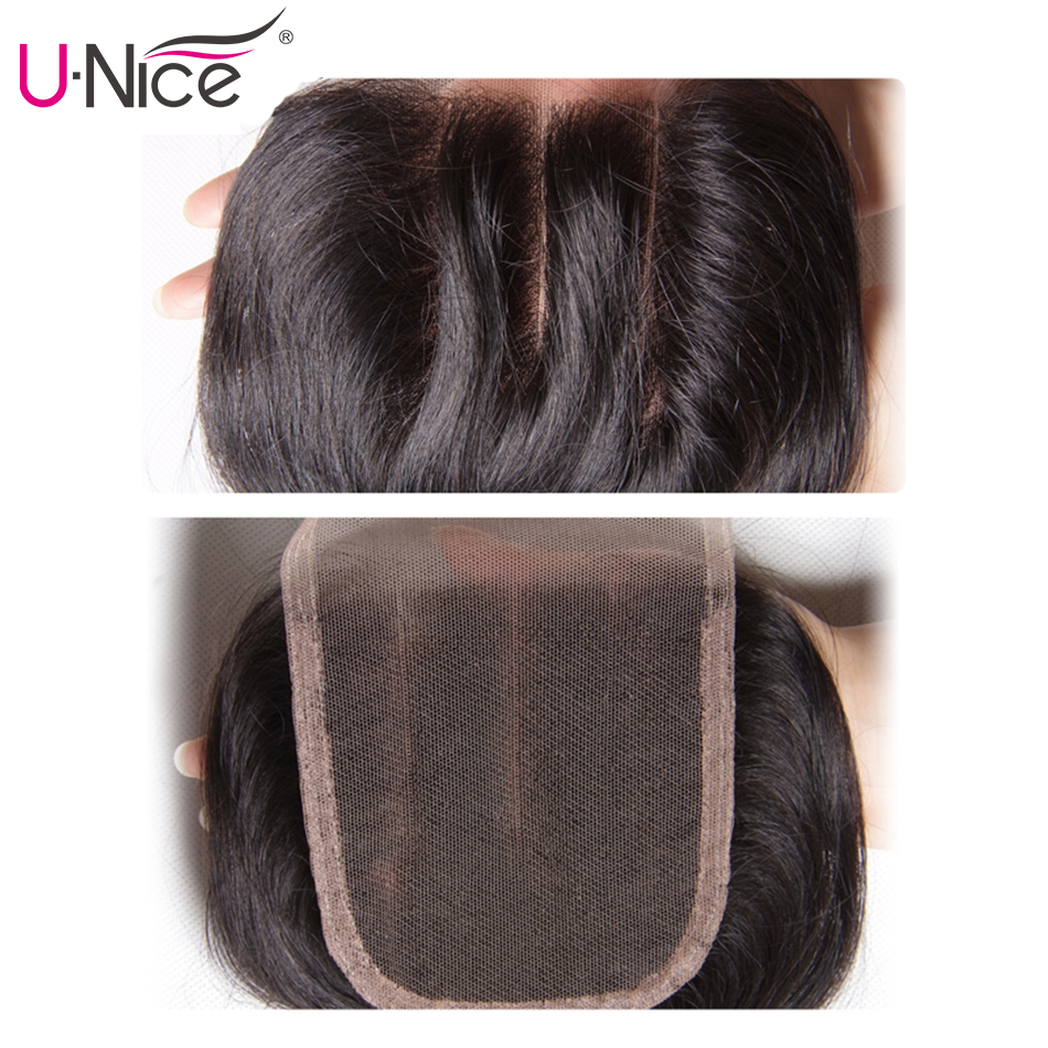 """UNICE Hair Brazilian Body Wave Remy Hair Bundles With Closure 4PCS Human Hair Bundles With Closure 8-30 """"Remy Hair Extension"""