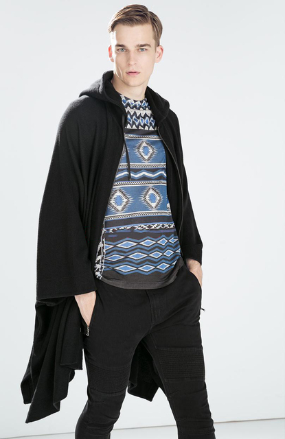 S-6XL!!Can be customized Male cloak cloak hooded windbreaker long bat in European and American fashion 2018 new winter coat