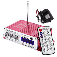 3 USB FM Audio Car Stereo Amplifier Radio MP3 Speaker LED Hi Fi 2 Channel Digital