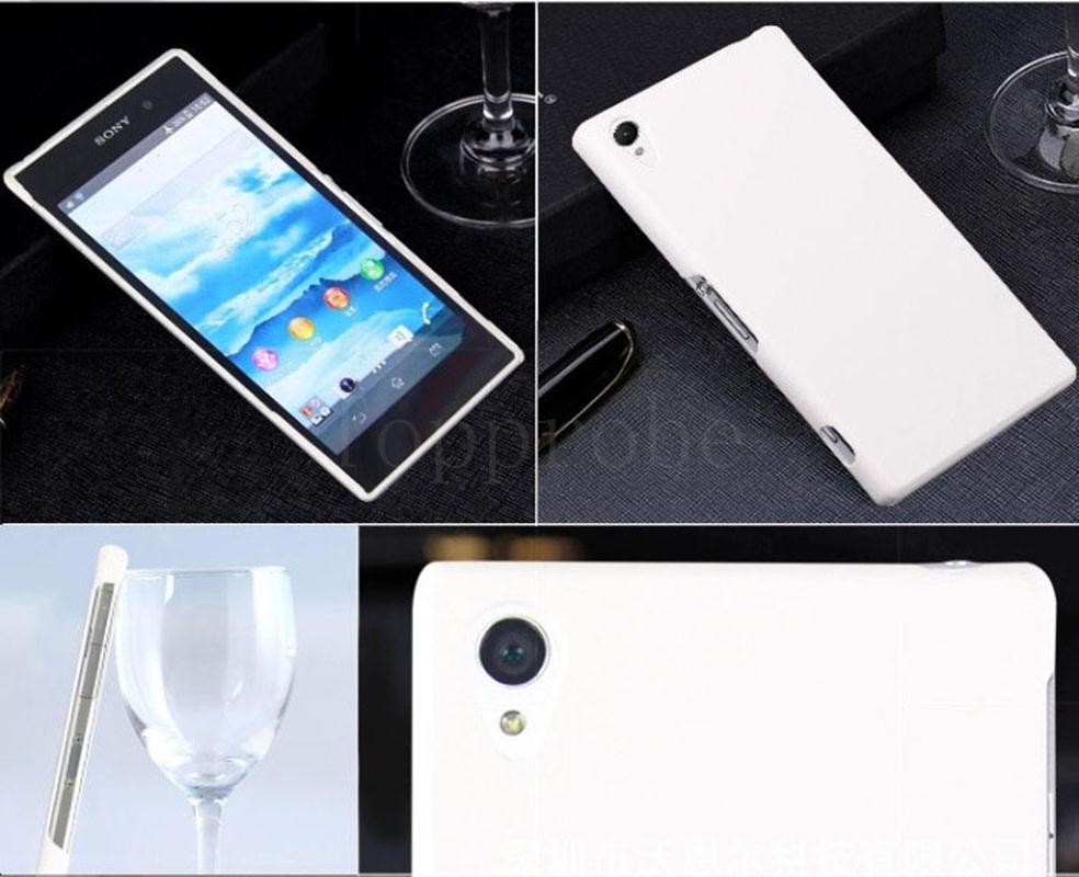 Hot sale Phone matte cases for Sony Xperia Z1 mini Matte Quicksand Hard cover 6th color with 1X screen film