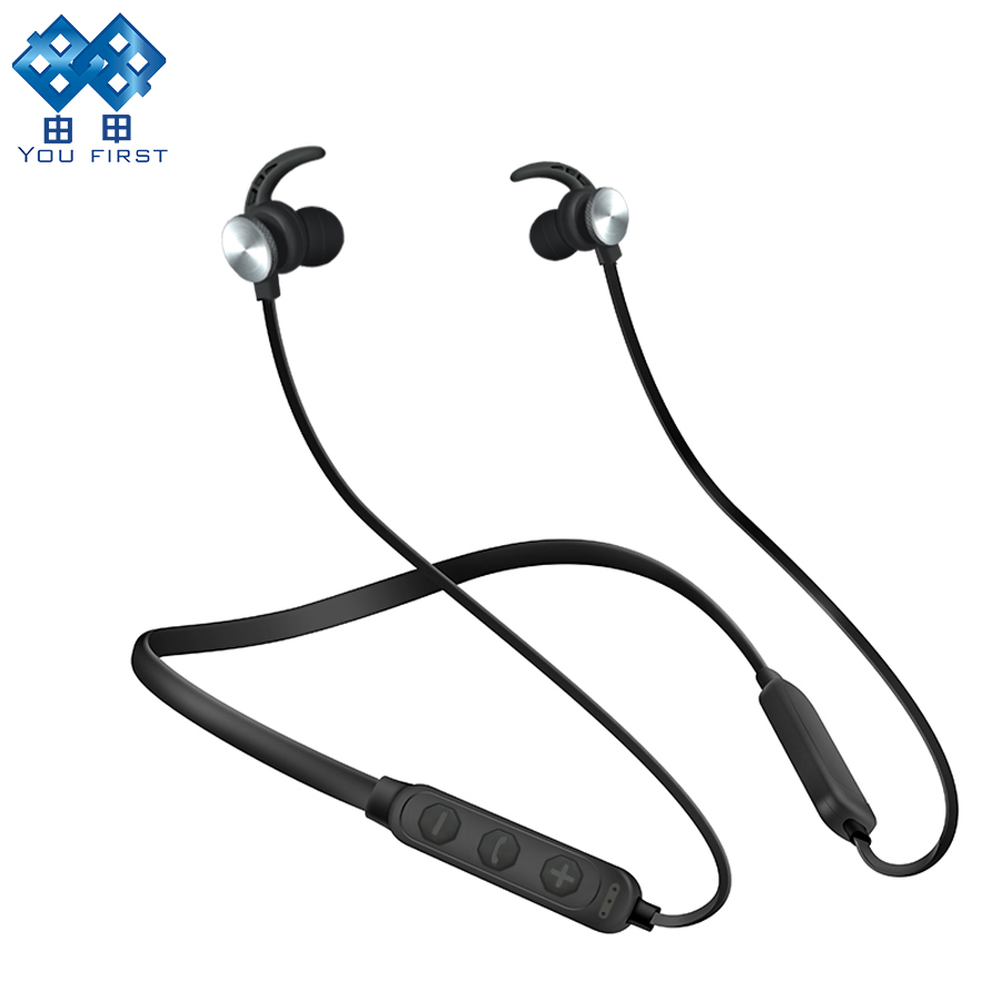 YOU FIRST Sport Bluetooth Earphones Wireless Headphones Magnetic Running Headset Stereo Super Bass Earbuds Handsfree With Mic цена