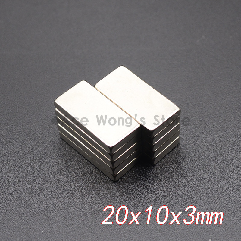 10Pcs 20mm x 10mm x 3mm N35 Super Strong Neodymium Magnets Block Cuboid Rare Earth Magnet 20 x 10 x 3mm Hot Sale hakkin 5pcs super strong neodymium magnet block cuboid rare earth magnets n35 20 x 10 x 2mm