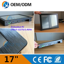 17″ industrial pc touch screen Resolution 1280×1024 embedded panel pc with i3 1.9GHz CPU Installation desktop/embedded