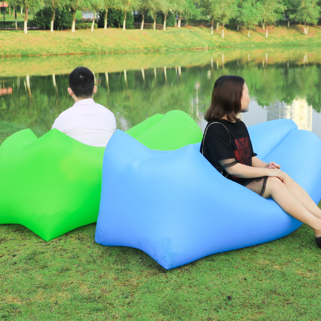 Inflatable Camping Chair Big 5 Chairs 2018 Travel Lazy Bag Outdoor Sofa Sleeping Hiking Portable Beach Air Bed Lounger