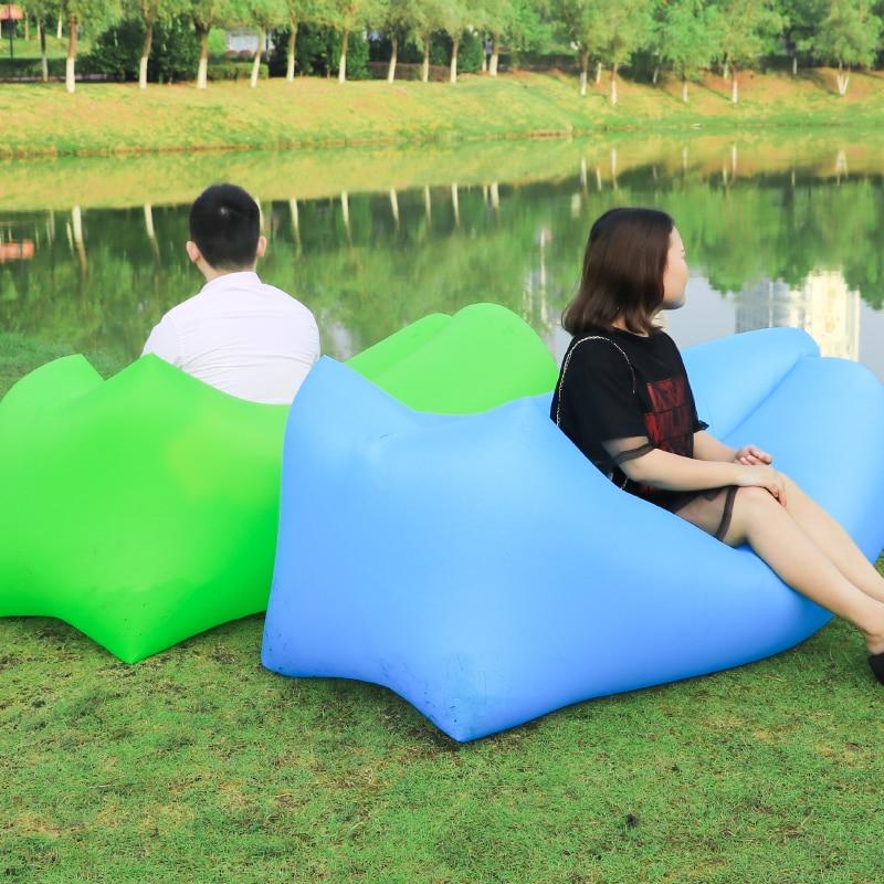 2018 voyage paresseux sac en plein air gonflable canapé sac de couchage Randonnée de Camping chaise De Plage Portable air Canapé lit gonflable Transat