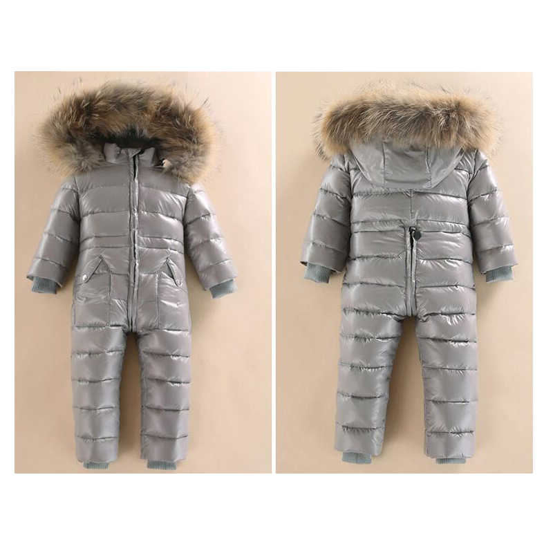 ad6e3d789 ... Russia Winter Baby Long Sleeves Girls Rompers -30 Winter 80% White Duck  Domn Baby ...