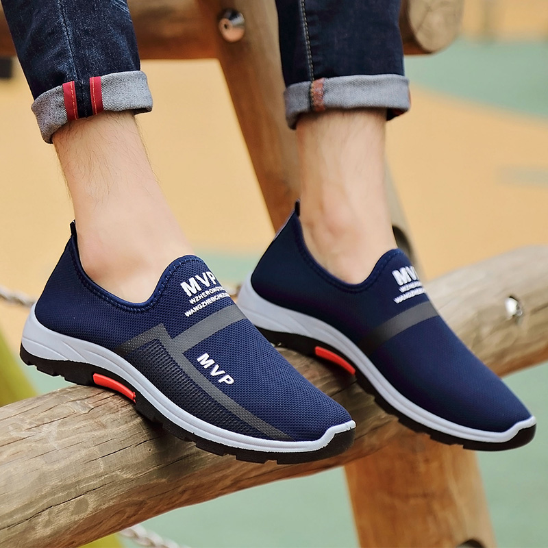 Shoes Men 2019 Sneakers Men Casual Shoes Breathable Mesh Shoes Men Loafers Sneakers Mens Trainers Sapato Masculino Spring Summer(China)