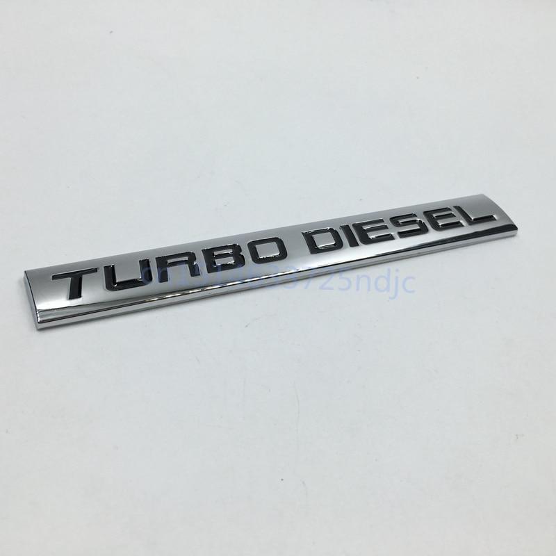 2018 Metal Emblem Car Bumper Trunk Fender Logo Badge Chrome Turbo Diesel Sticker