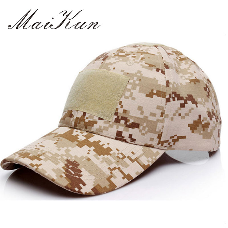 Maikun Military Hats For Men Camouflage Casual Cap Adjustable Snapback Hats Bones Cotton Men Caps
