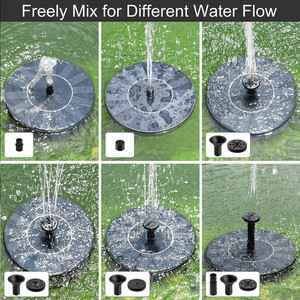 Image 4 - 1.4W Round Shaped Solar Fountain Water Floating Fountain Pump Outdoor Bird Bath Fountain Pool Pump For Pond Garden Decoration