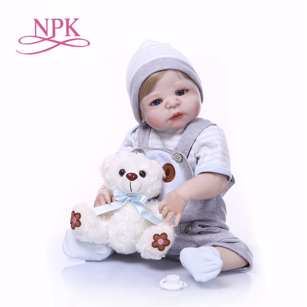 56CM bebe doll reborn Baby Toy Full body Silicone Vinyl Real Lifelike Bebes Reborn Alive Doll