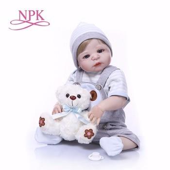 56 см кукла bebe reborn Baby Toy полное тело силиконовый винил настоящий реалистичный Bebes гиперреалистичный кукла горячие игрушки Рождественский под... >> NPK Official Store