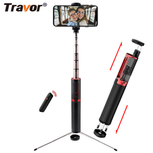 Travor bluetooth selfieスティックミニ三脚3 1で一脚selfieスティックbluetoothワイヤレスリモートシャッター & iphone