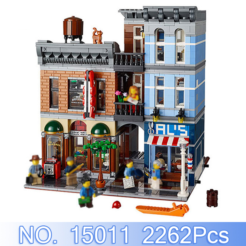 Lepin 15011 City Creator Figures 2262Pcs Detective's Office Model Building Kit Blocks Bricks Set Toys Compatible With 10246 Gift led light up kit gor city model building block figures accessories kit toys for children compatible with lepin