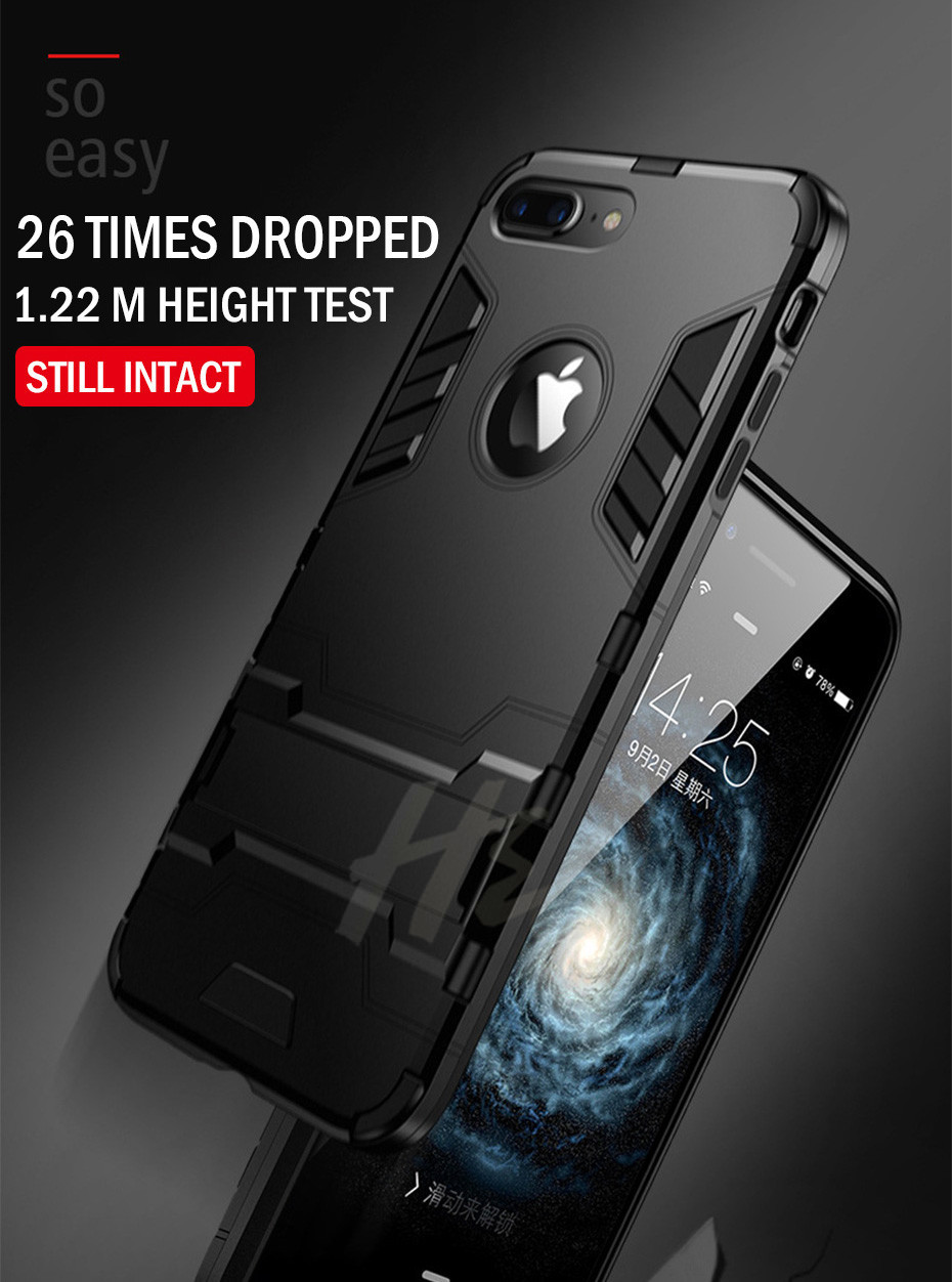 Shockproof Armor Phone Case For iPhone Plus TPU + PC Protective Case 4