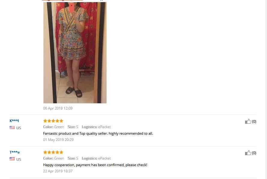 זרוק משלוח נשים בציר קצר שרוול הדפסת שמלת V צוואר קצר שרוול Boho פרחוני מיני שמלות נקבה קיץ קיצית חג