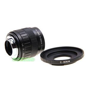 Image 3 - Fujian 50mm F1.4 CCTV lente de TV + C EOS M para Canon cámara sin espejo EOS M M2 M3