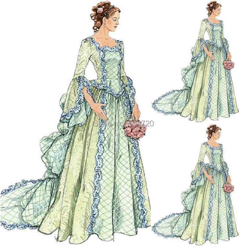 US $188 0 |Custom madeR 758 Vintage Costumes 1860s Civil War Southern Belle  Ball wedding Dress/Gothic Lolita Dress Victorian dresses on Aliexpress com