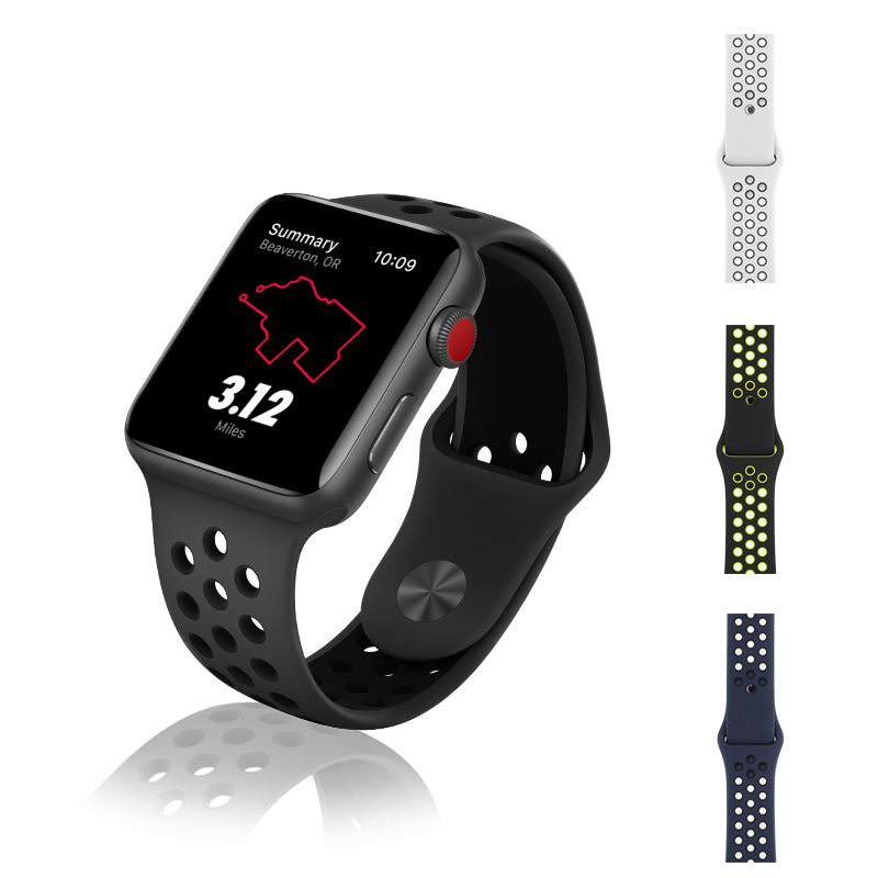2pcs/lot apple iWatch sport Silicone band strap apple watch bracelet wrist band watch watchband Apple Watch Accessories hoco apple watch iwatch sport