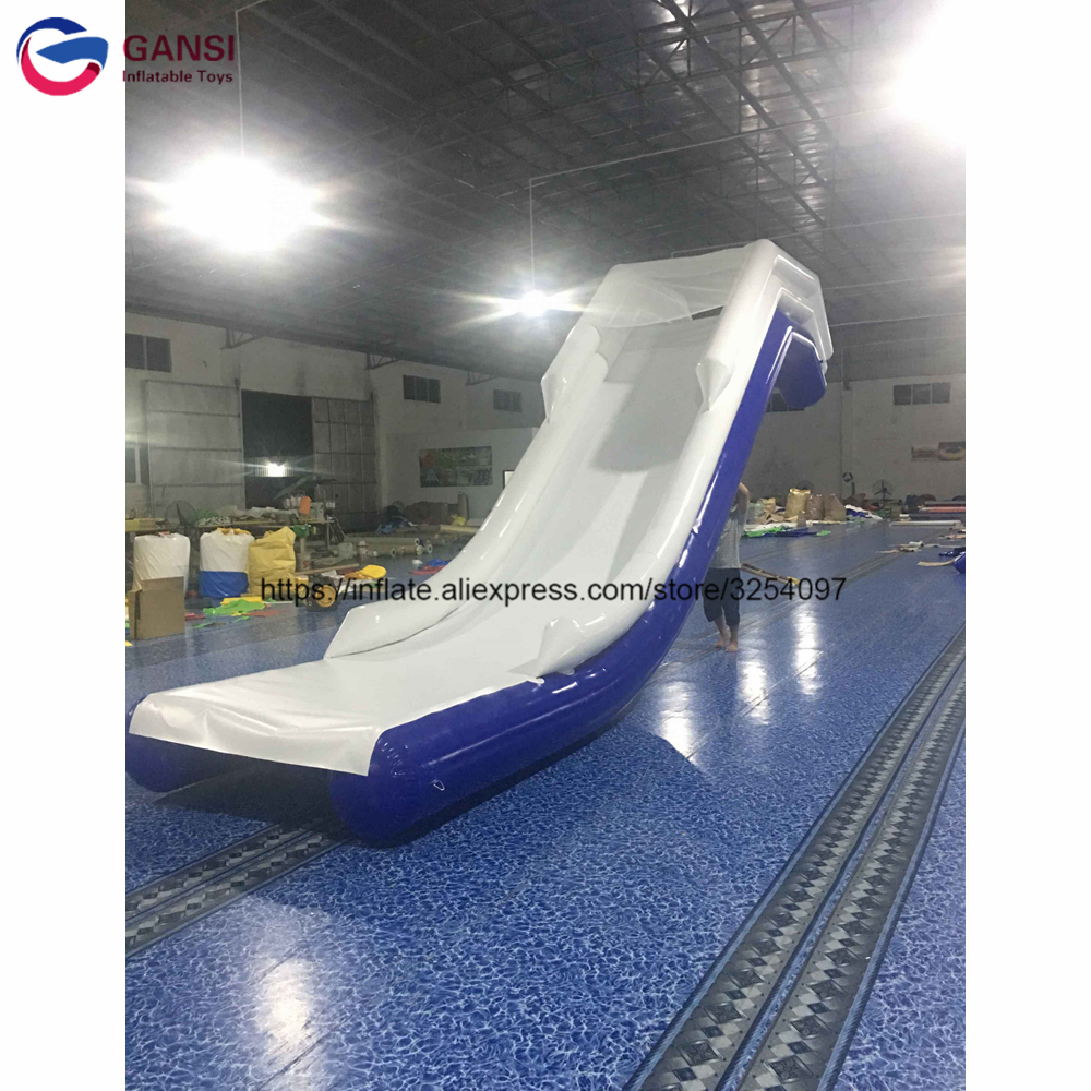 Hot sale funny game inflatable cruiser water slide 3m height inflatable yacht slide for boat