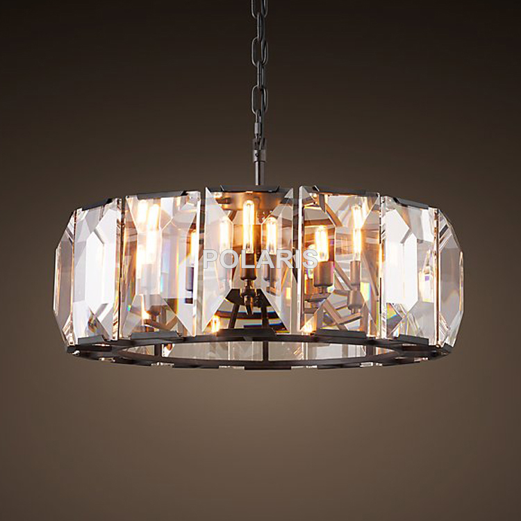 Luxury Vintage Crystal Chandelier Pendant Hanging Chandelier Light Lamp for Home Hotel Decor