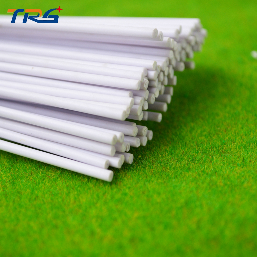 White ABS Rod Solid 2mm-6mm Plastic DIY Sand Table Model Round Useful New Hot