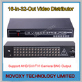 Envío Libre 16 En 32 Hacia Fuera AHD Amplificador Distribuidor de Video 16CH A Splitter Para CCTV Sistema de Cámaras de Seguridad DVR 32CH