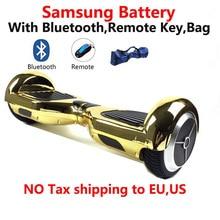 Samsung batterie bluetooth remote tasche 6,5 zoll 2 wheel Smart Selbst balancing elektroroller Zwei Rädern intelligente Elektrische Hoverboard