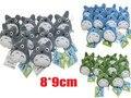 "10 Pçs/set 3 ""Anime Studio Ghibli Meu Vizinho Totoro Totoro Azul Plush Bag Pingente Chaveiro"