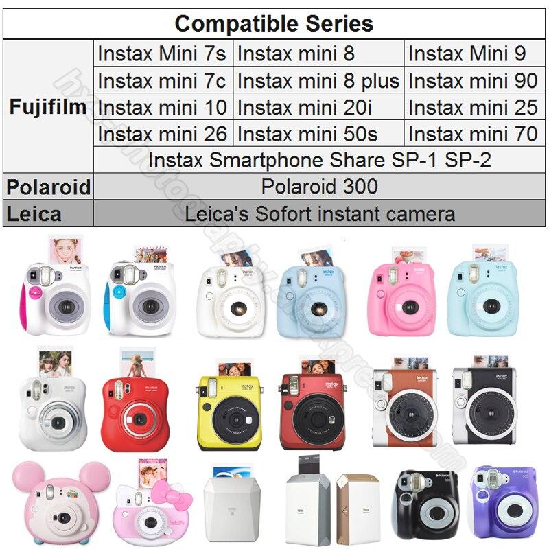 100/60 Blanc Feuilles Véritable Fuji Fujifilm Instax Mini 9 Film Pour Instax Mini 8 9 50 s 7 s 7c 90 25 partager SP-1 SP-2 Instantanée Caméras - 6