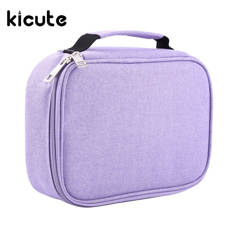 Kicute 1pcs 72 Slot Student Fabric Pen Bag Pencil Case Pouch Box Women Cosmetic Brush Holder Office School Supplies Gifts animal cat pencil case big capacity pen bag boxes student school supplies multifunction stationery creative cute student gifts