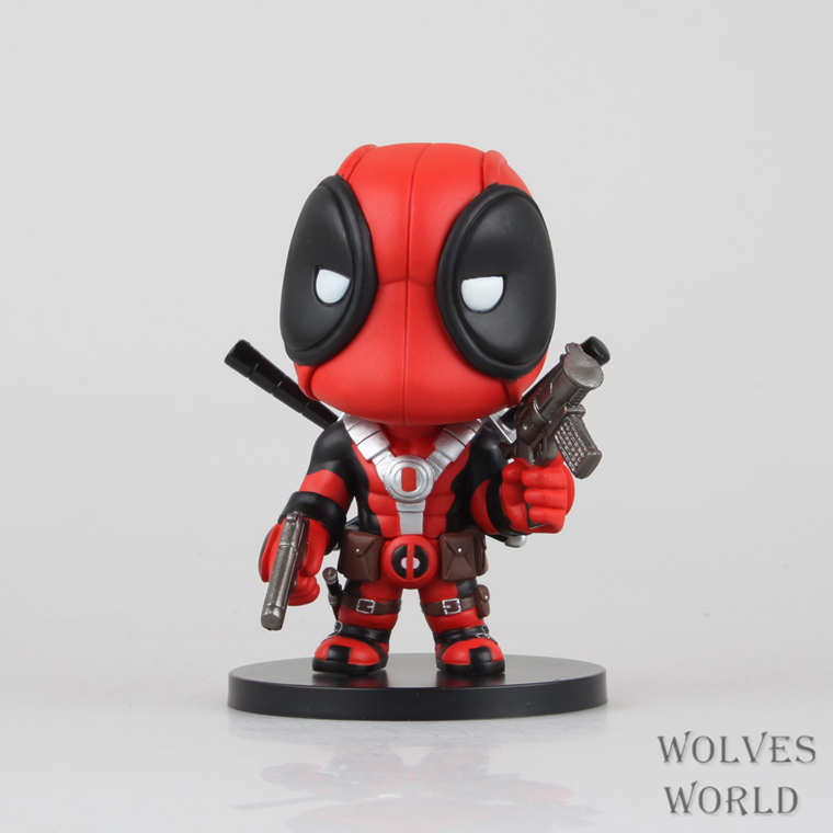 Free Shipping Marvel Comics X-men Deadpool Q Version PVC Action Figure Collectible Toy Doll Christmas birthday gift Garage Kit neca epic marvel deadpool ultimate collectible 1 4 scale action figure model toy 16 45cm ems free shipping