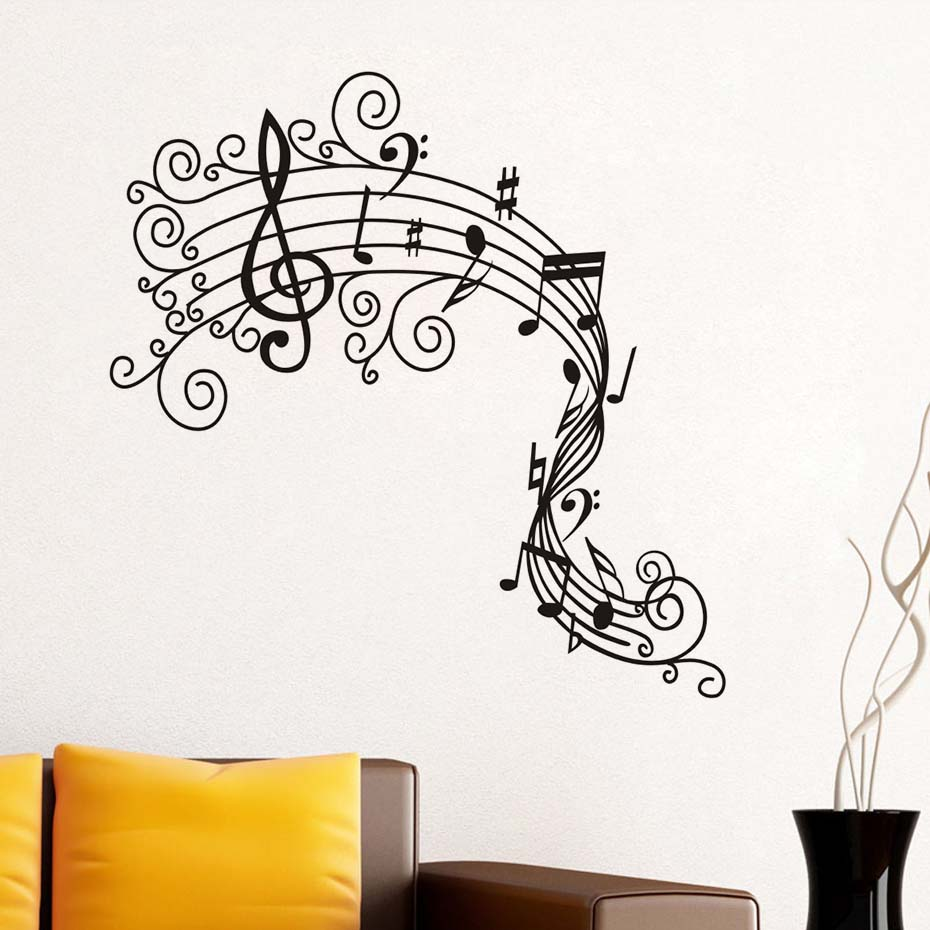 Wonderful Wallpaper Music Graffiti Art - Music-Note-Wall-Decals-Musical-Wall-Art-Mural-Graffiti-Wall-Stickers-Removable-M-Wallpaper-Diy-Home  Trends_255698.jpg