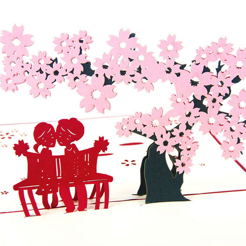 3d pop up greeting cards cherry tree love valentine anniversary 3d pop up greeting cards cherry tree love valentine anniversary easter birthday y102 in cards invitations from home garden on aliexpress alibaba m4hsunfo