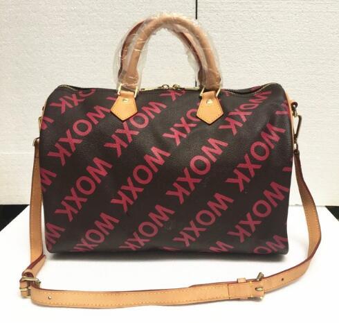 Hot selling!!!2017 new fashion Genuine Leather women handbags high quality speedy bag free shipping