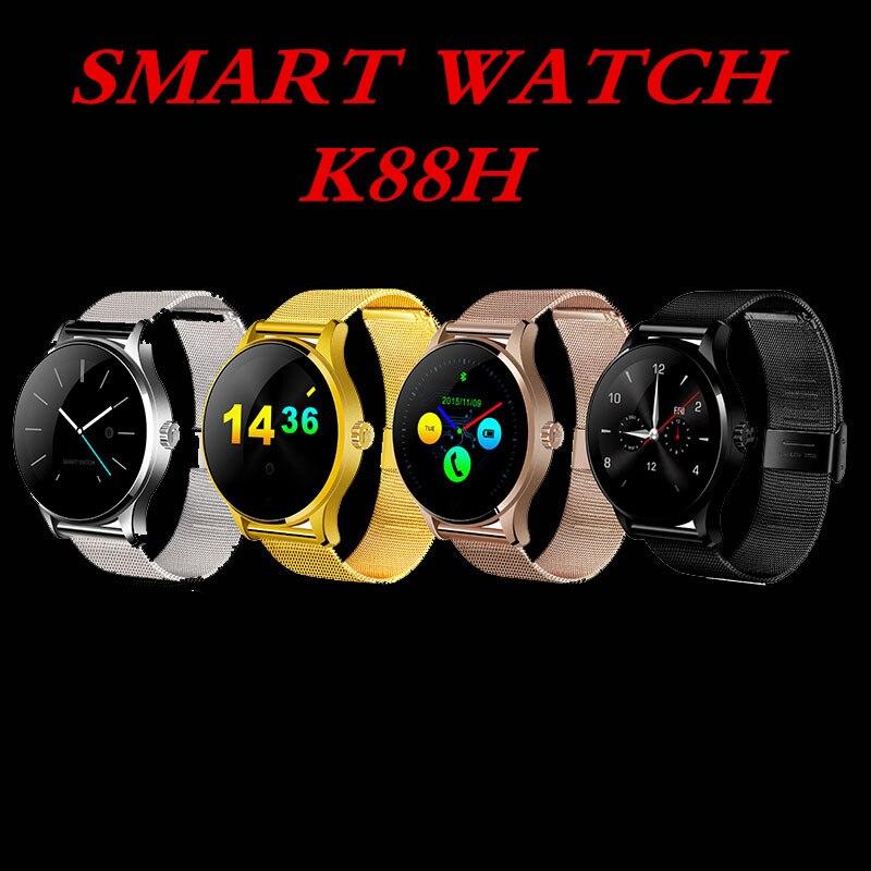 Reloj inteligente K88H Bluetooth MTK2502 control de voz reloj inteligente impermeable con podómetro de batería potente - 3