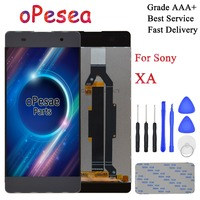 oPesea For SONY Xperia XA F3111 F3112 F3115 F3116 LCD Display Panel Touch Screen Glass Digitizer Assembly With Frame Replacement