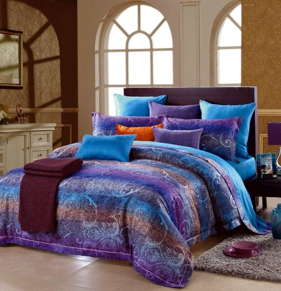 blue and purple bedrooms aliexpress buy blue purple paisley stripe 14612