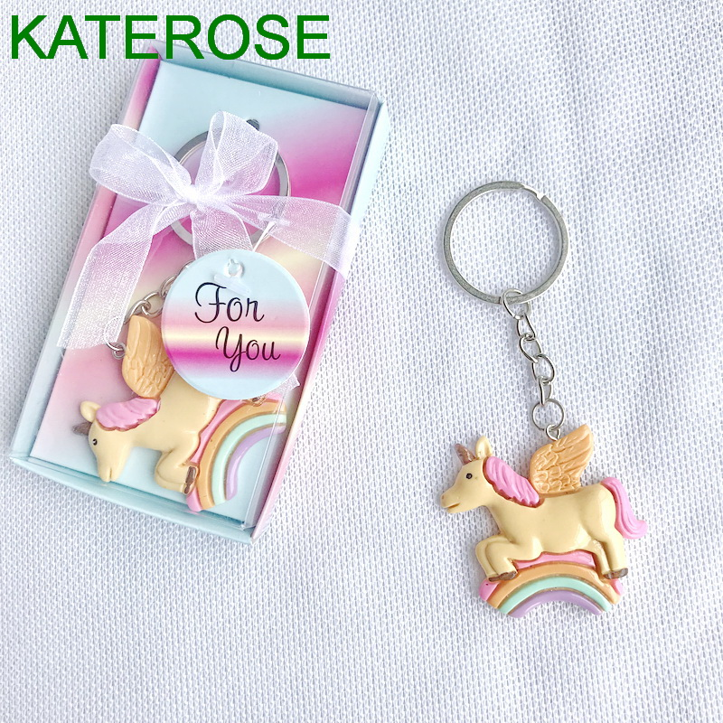 Online Shop 10PCS Baby Birthday Party Giveaway Colorful Unicorn Key Chain  Newborn Baptism Baby Christening Souvenir | Aliexpress Mobile