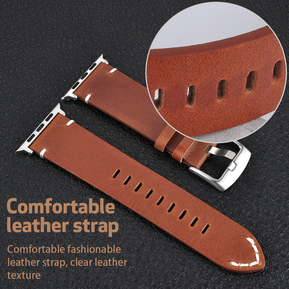 Fashion Leather Strap for Apple Watch Band 38mm 42mm Replacement Wristband with Metal Solid Clasp for Apple Watch Series 4 3 2 1 42mm 38mm for apple watch s3 series 3