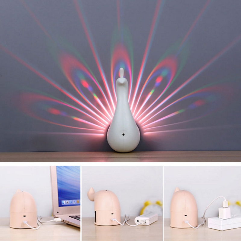 פרויקטים & אביזרי מיני נייד מקרן 3D טווס LED הקרנת בית קולנוע תמיכה